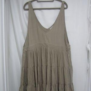 Acacia L NWT Havana Tiered Dress Swim Cement